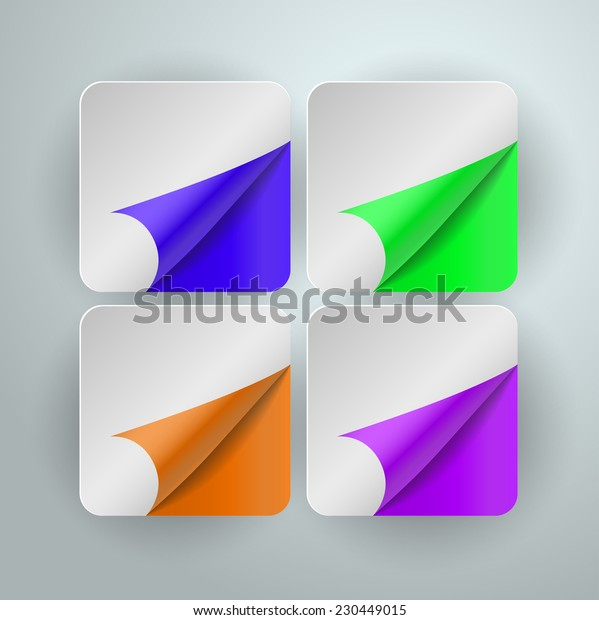 paper corners. Vector illustration