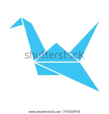 Paper Crane Origami Japanese Culture Symbol Stock Vector Royalty