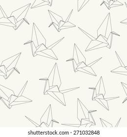 paper cranes, origami pattern