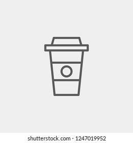 Paper Cup Coffee, Cappuchino, Modern Simple UI Vector icon