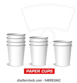 paper cups, cutting