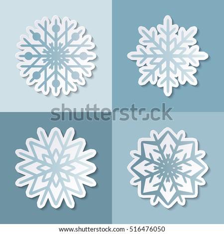paper cut 3 d snowflake minimalistic seamless stock vector royalty