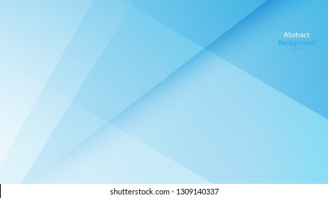 Paper Cut Blue color background abstract art vector