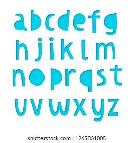 Paper cut font, realistic 3d vector design