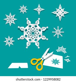 Paper Cut Snowflakes Vector Creativity Project