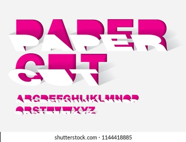 paper cut paper typography design graphic design vector
