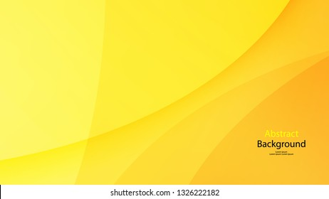 Paper Cut Yellow color background abstract art vector