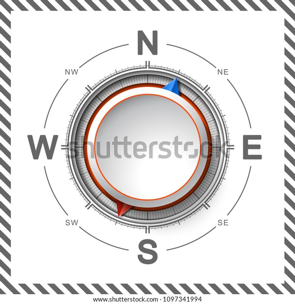 Paper Cutout Compass Shade 3d Origami Stock Vector (Royalty