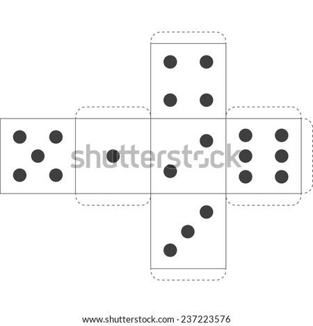 Paper dice template vector stock vector royalty free 237223576 paper dice template vector maxwellsz