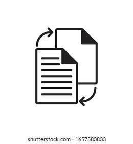 paper document black icon vector illustration