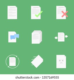 Paper and Document icon set.
