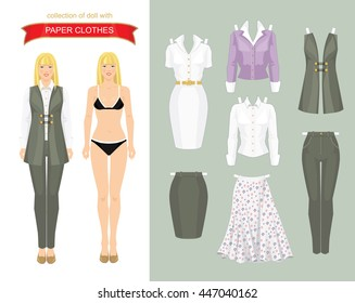 cute dress paper doll body template stock vector royalty free