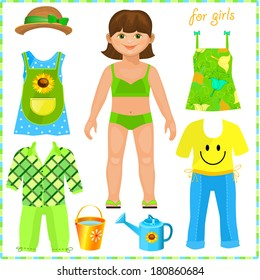 photo about Paper Doll Clothes Printable referred to as Paper Doll Garments Photos, Inventory Shots Vectors Shutterstock