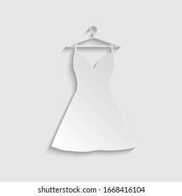 paper dress vector icon. clothes clothing icon