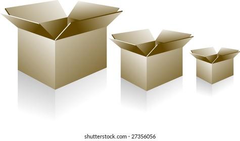 paper empty boxes