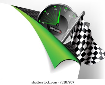 Paper with flex corner with racing theme