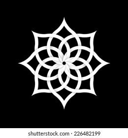 Paper floral element for design. Vector EPS10