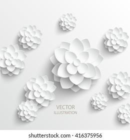 Paper flower. Background. Vector illustration