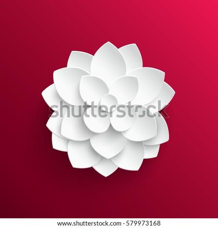 Paper flower lotus background vector illustration stock vector paper flower lotus background vector illustration mightylinksfo