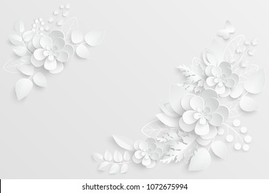 Paper cut flower images stock photos vectors shutterstock paper flower white roses cut from paper wedding decorations decorative bridal bouquet mightylinksfo
