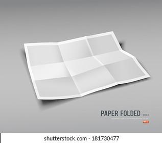 Paper Folded, nine fold for business design background, vector illustration