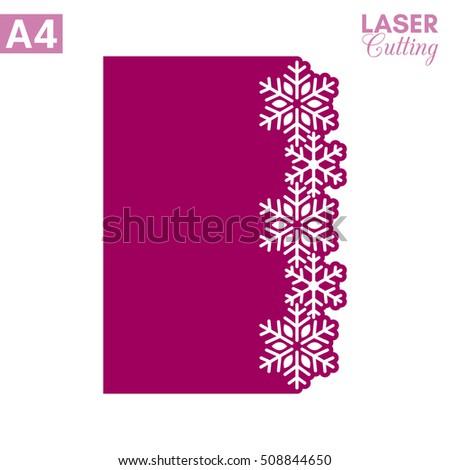 paper greeting card snowflake border cut stock vector royalty free