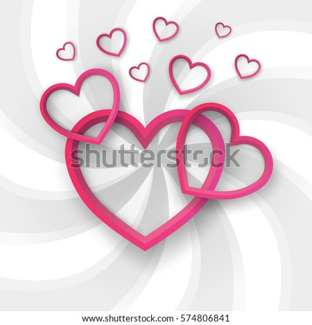 paper hearts valentines day love heart stock vector (royalty free