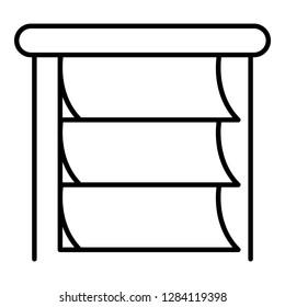 Paper horizontal jalousie icon. Outline paper horizontal jalousie vector icon for web design isolated on white background