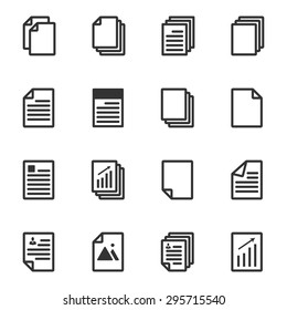 Paper icon, Document icon, Vector EPS10