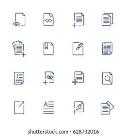 Paper icon, Document icon, Vector EPS10
