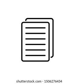 Paper Icon, File Duplicate Icon, Document Icon Vector Illustration – Vector