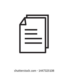 Paper Icon. Replication file outline symbol. Duplicate app sign - vector.