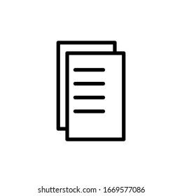 Paper icon vector design template