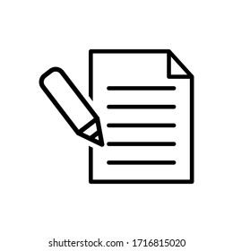 Paper icon vector on white background
