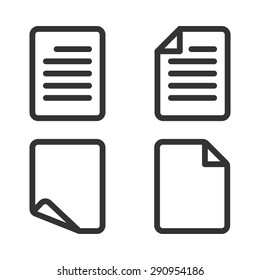 Paper icon,Document icon,Vector EPS10.