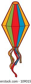 Paper lantern vector icon, Festa Junina design.