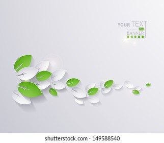 paper leaves abstract background