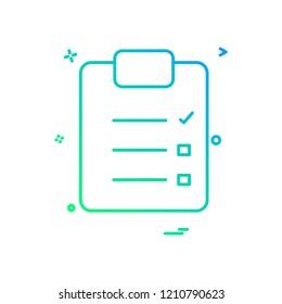 paper list icon design vector