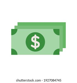 paper money icon of color style  design vector template