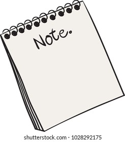 Paper note blank, Art vector