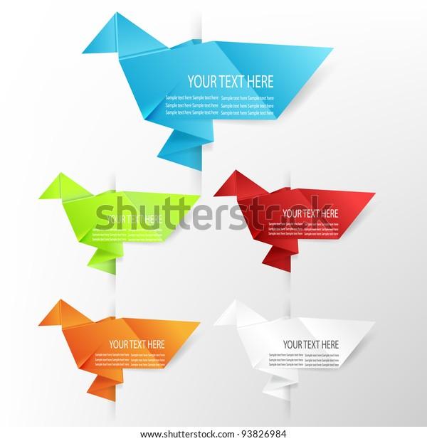 Origami Dove Guide Stock Illustrations – 9 Origami Dove Guide ... | 620x600