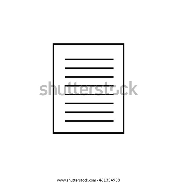 Paper outline icon illustration isolated vector sign symbol