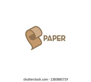 Paper p logo design p amblem