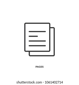 Paper pages vector icon