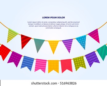 Paper party flags