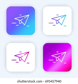 Paper plane bright purple and blue gradient app icon