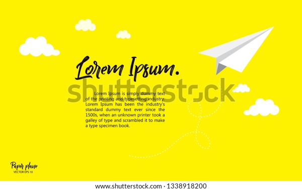Paper Airplane Flyer | Presentation PowerPoint Diagrams | PPT ... | 380x600