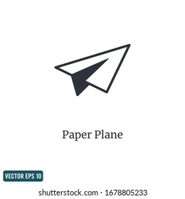 Paper plane icon send symbol design element logo template vector eps 10