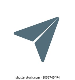 Paper plane icon vector, Send Message solid logo illustration, pictogram isolated on white