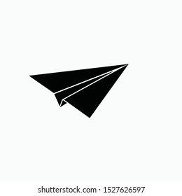 paper plane icon vector sign symbol isolated